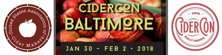 CIDERCON January 30-February 2, 2018 in Baltimore